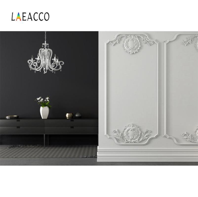 Laeacco Sala Chic Vintage Chandelier Sofá partido quarto Home Decor Foto Fotografia backdrop Photo Studio