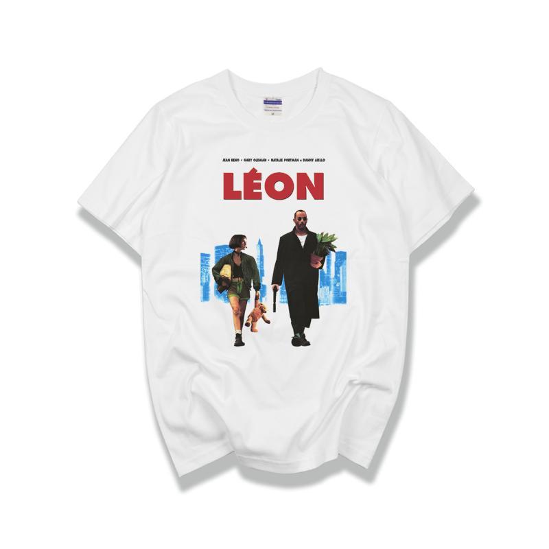 Clásica película francesa LEON EL PROFESIONAL camiseta de manga corta los hombres de moda camiseta 100% algodón de alta calidad Jersey