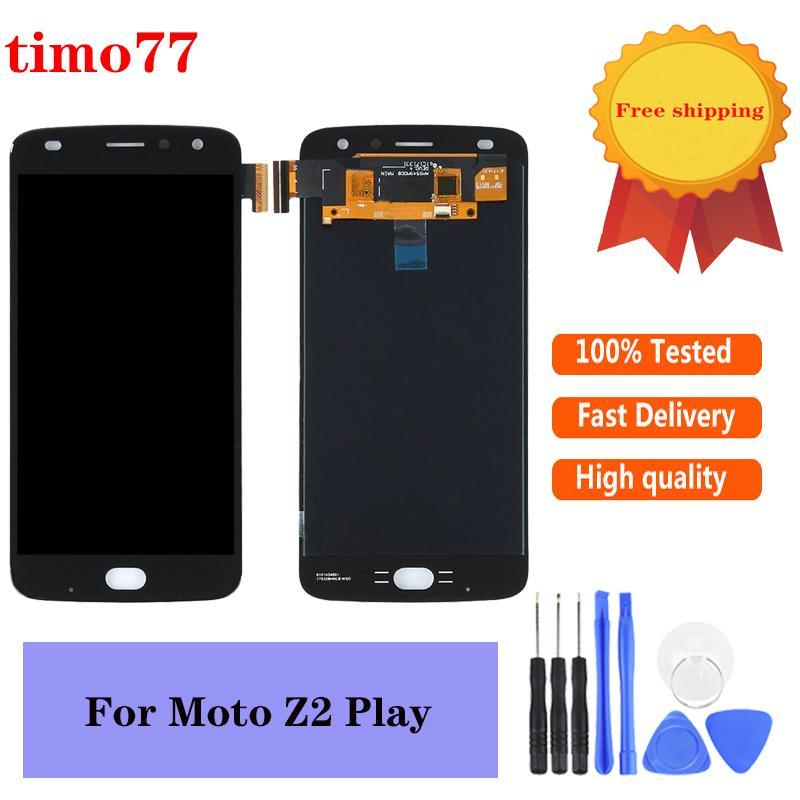 La migliore qualità OEM SCHERMO LCD 5.5 pollici per Motorola Moto Z2 Giochi di riparazione Pezzi di montaggio Nessun telaio nero con vetro temperato