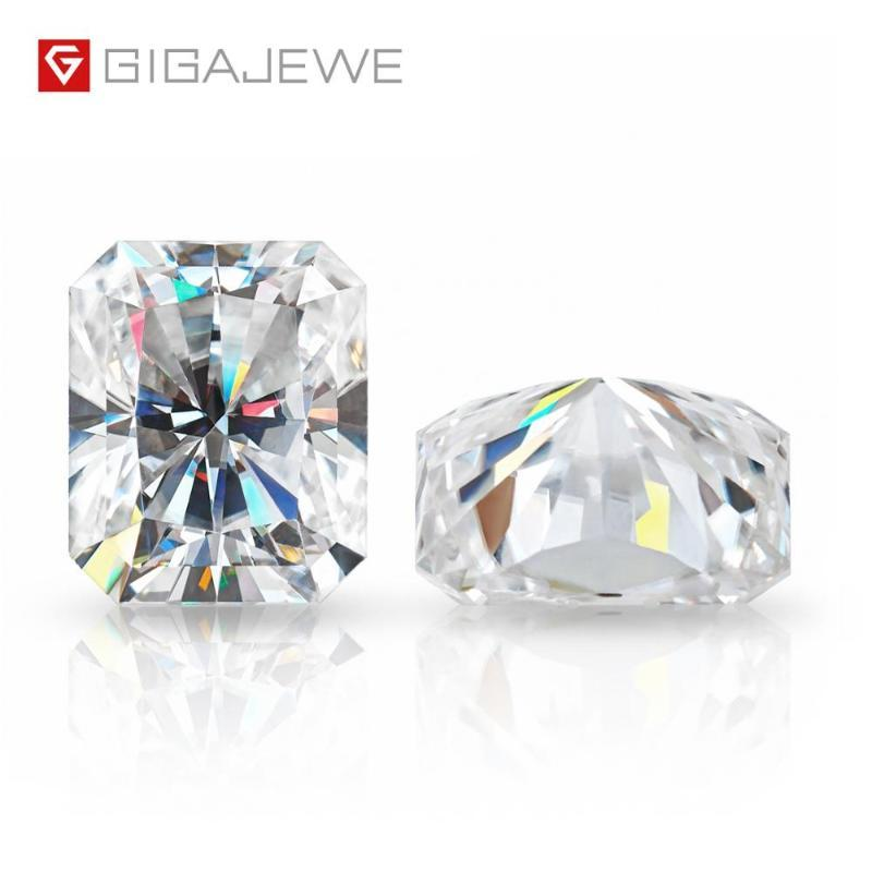 Otro gigajewe D Top Color Cut Radiant Cut Moissanite Piedra de diamante suelta Pastilla de piedras preciosas para la fabricación de joyería Regalo de certificado