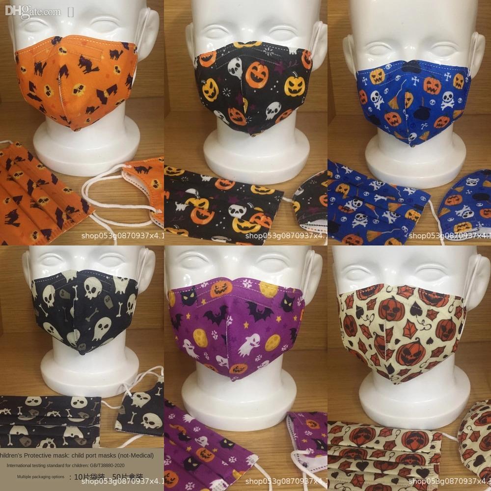 1ji8k Spedizione bambini Viso MaskSafety bambini antiappannamento Ognissanti Halloween bambini Shield trasparente anti-sputo Splash PET Ma protettivo