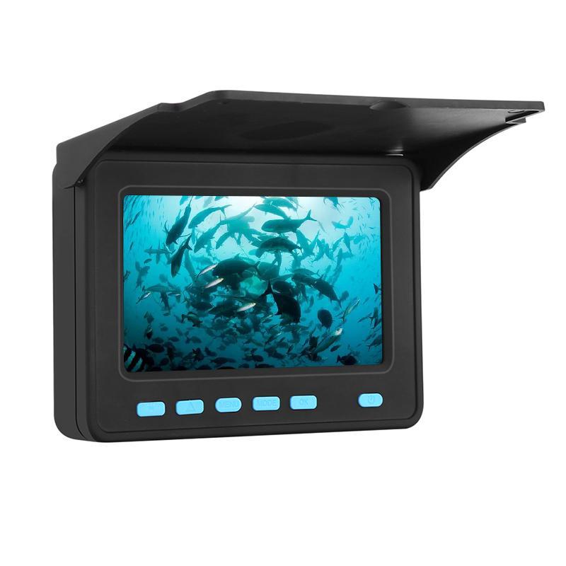 20M Underwater Camera HD 1000TVL 8Pcs LEDs Fish Finder 4.3 Inch LCD Monitor Fishing Video Camera Kit for Ice Lake Sea Finshing E