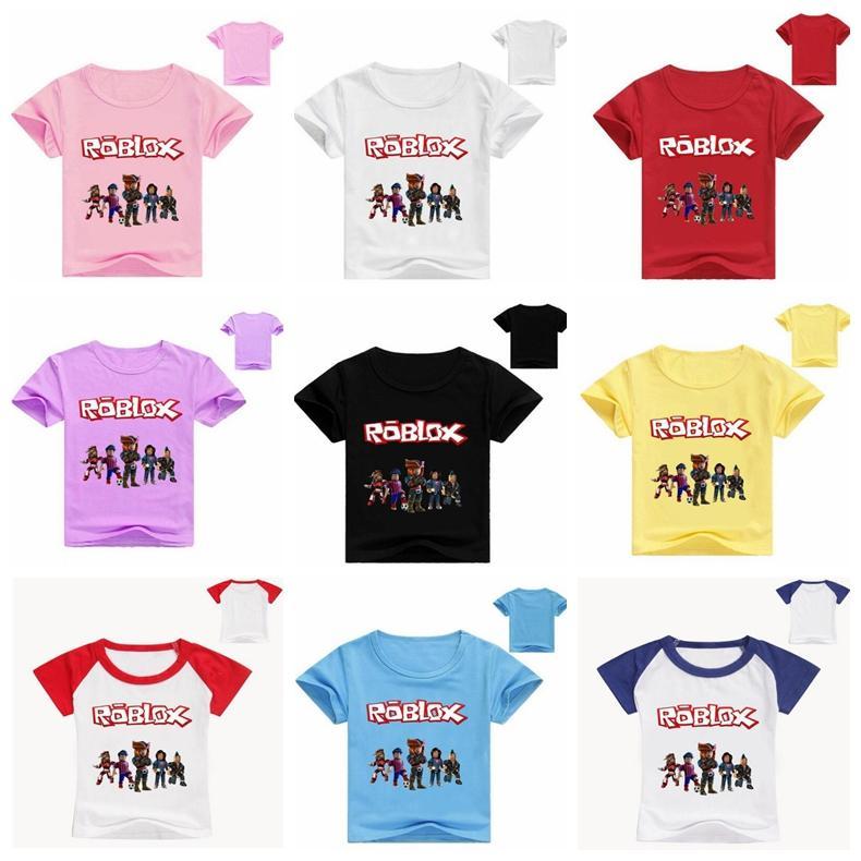 2020 Roblox Print Boys T Shirt Cartoon Fashion Baby Boys Girls T Shirt Clothes Summer New High Quality Short Sleeve Tops Tee From Fang02 6 44 Dhgate Com
