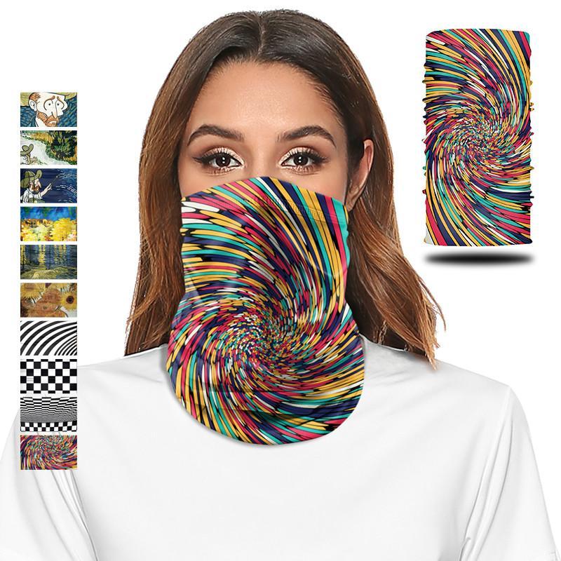 Outdoor-Mode-Maske-Maske-Bedruckte Kopftuche Hals Bunte Stoff Outdoor Schal Unisex Nahtloses Reiten Minkanak Mode Gesicht Erwachsene Ladek