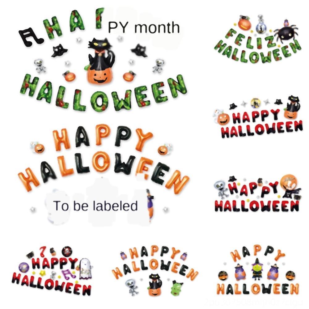 8y4Dz Happy Halloween zucca fantasma di scheletro del cranio fantasma Globos Party Balloons per Halloween Foil favore elio decorazione forma Forniture JK