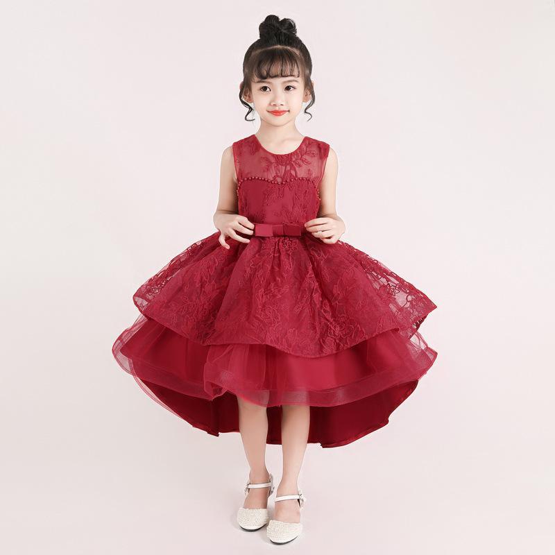 Neujahr Kleidung Spitze Mädchen Christmas Party Kostüm Kinder Kleider für Mädchen Prinzessin Kleid Brautkleid