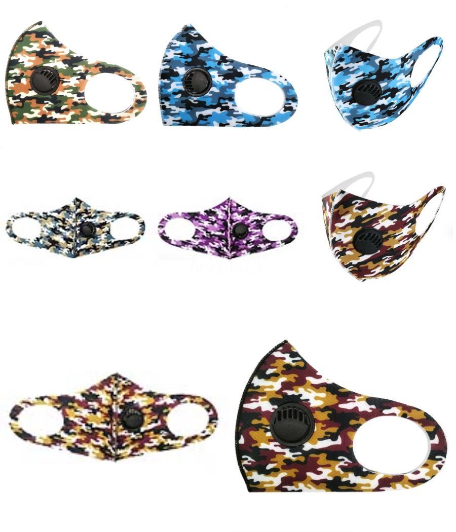 Yeni Bisiklet Maskeler Yüz Maskeleri Anti-Dust Sünger Kadın Erkek Unisex Tasarımcı Maskeler Moda Baskılı Siyah Yıkanabilir Yüz 5 Stiller Maske FY9122 # 771
