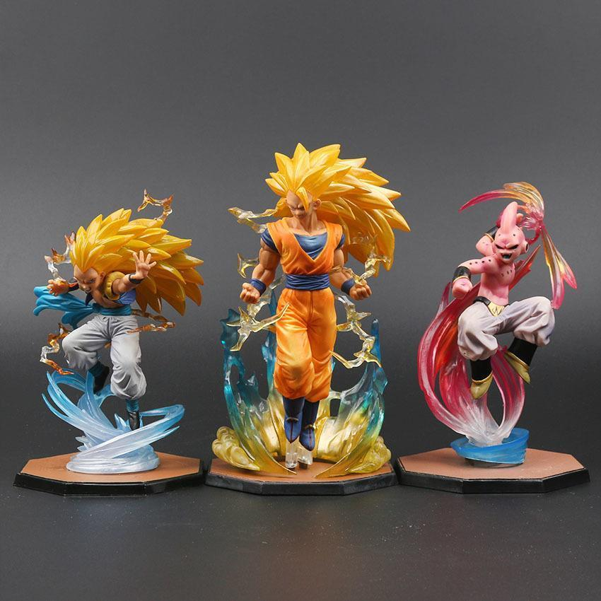 S. H. Acción de la colección Y190529 Goku Súper Gotenks Modelo Cero Figuarts juguete Tamashii Figuras Buu Z Saiyan Naciones PVC Majin E2008 LCKAf