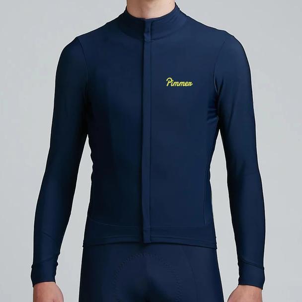 Гоночные куртки 2021 Пиммер зимнее качество высокой плотности щеткой ткани Pro Aero велосипедные джерси с длинным рукавом термальная рубашка гонка