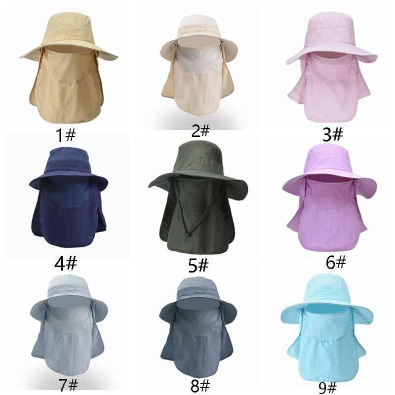Unisex Waterproof dobrável respirável Vt1444 Fisherman exterior removível Uv Masculino Cap garganta da face Hat Anti chapéu ajustável Proteção oXueo