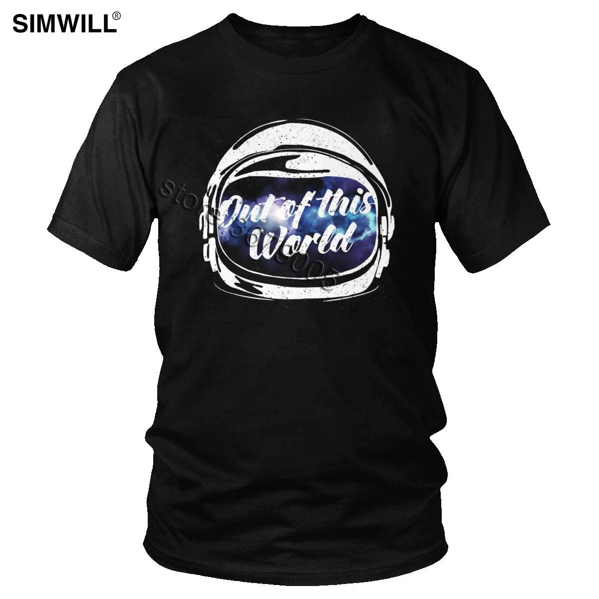 Mode Astronaut aus diesem Wolrd T-Shirts für Männer Breathable Eco Cotton T-Shirt mit Rundhalsausschnitt Kurzarm Raum-T-Shirt