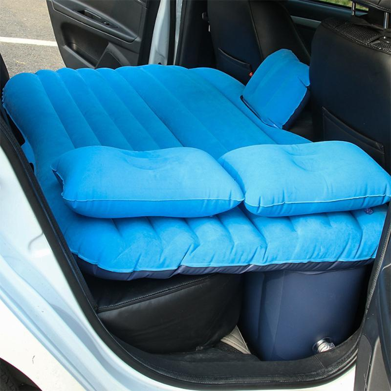 SPEWPRP Car Travel Bed Camping Inflatable Sofa Automotive Air Mattress Rear Seat Rest Cushion Rest Sleeping Pad Car Accessories
