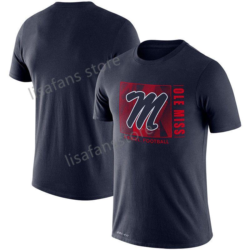 Mens Ole Miss Rebels Team Issue-Leistungs-T-Shirt GFX Geschwindigkeit Sideline Legend Performance Tee Sleeves College-Pullover-T-Shirts