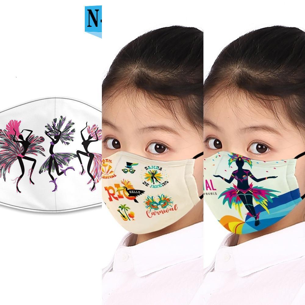 à prova de poeira YB4K PM2.5 Brasil Carnival nevoeiro-prova e máscara de filtro lavável