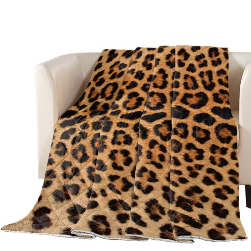 Leopard Print Summer Quilt Personalized Air Conditioning Comforter Throw Blanket Soft Print Bed Cover Bedspread
