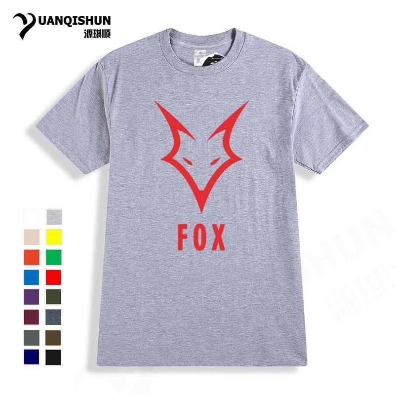 shirt dos homens Funny T Moda Fox Logo Design T-shirt dos homens de manga curta Tops Verão Casual 16 cores Pure Cotton Tee Unisex Harajuku