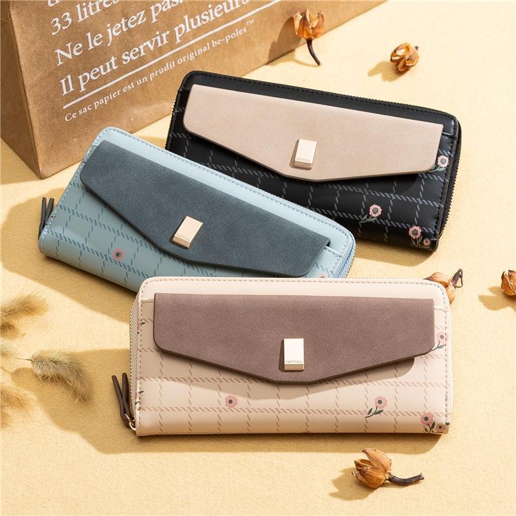 exdxo Prettyzys Priti 2020 Kore tarzı yeni tatlı bayan yenilikçi baskılı cüzdan uzun multi-fonksiyonel cüzdan