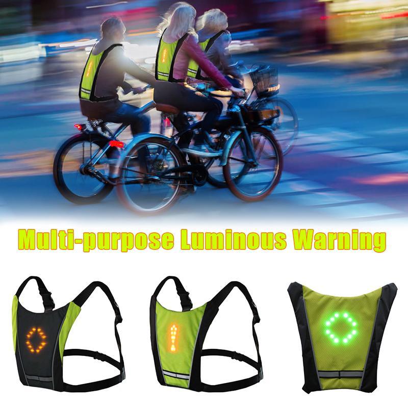 Neue LED-Wireless Racing Fahrradtrikot MTB Bike Bag Sicherheits LED Blinker Licht Weste Fahrrad Reflektierende Warnwesten mit Remo