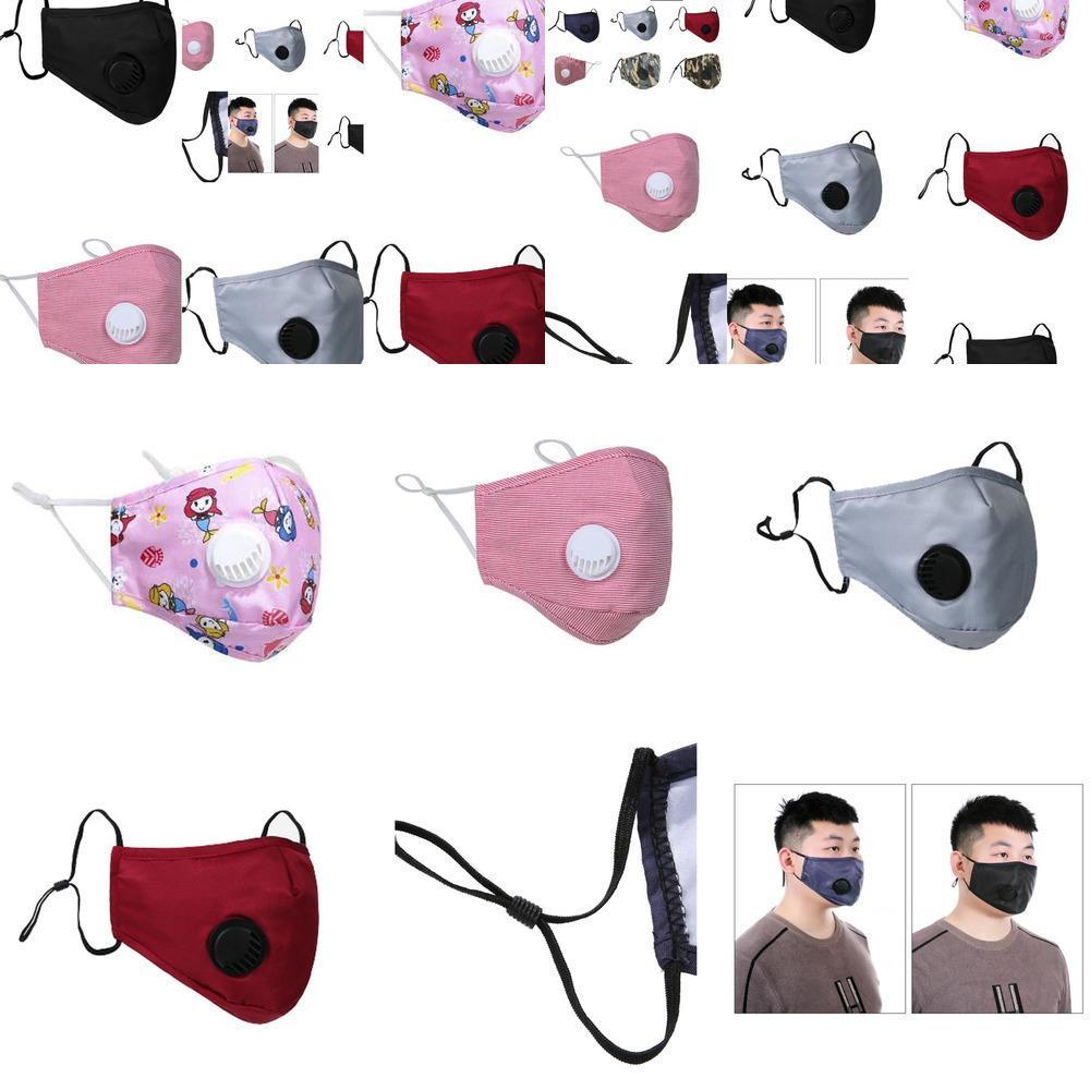 Designer-Gesichtsmaske Maske Mund Gesicht er PM2.5 Staubdichtes Anti-l Waschbar Wiederverwendbare Ice Silk Co 408U GWHK1