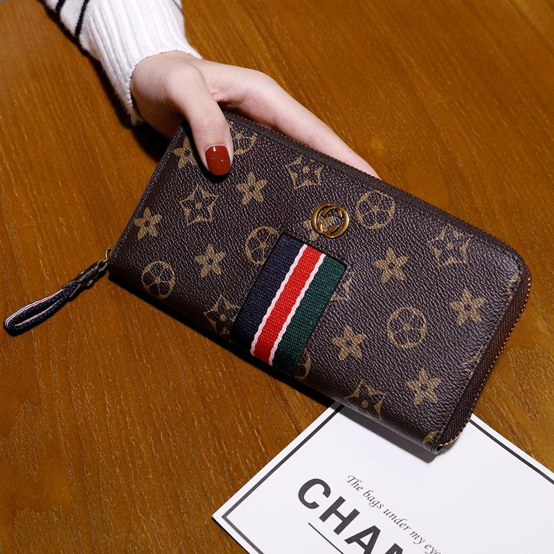 Кожа багажную бирку кошелек Длинные Стиль для женщин новый стиль кожа большой емкости Многофункциональный кожаный бумажник Женщины молнии Кошелек