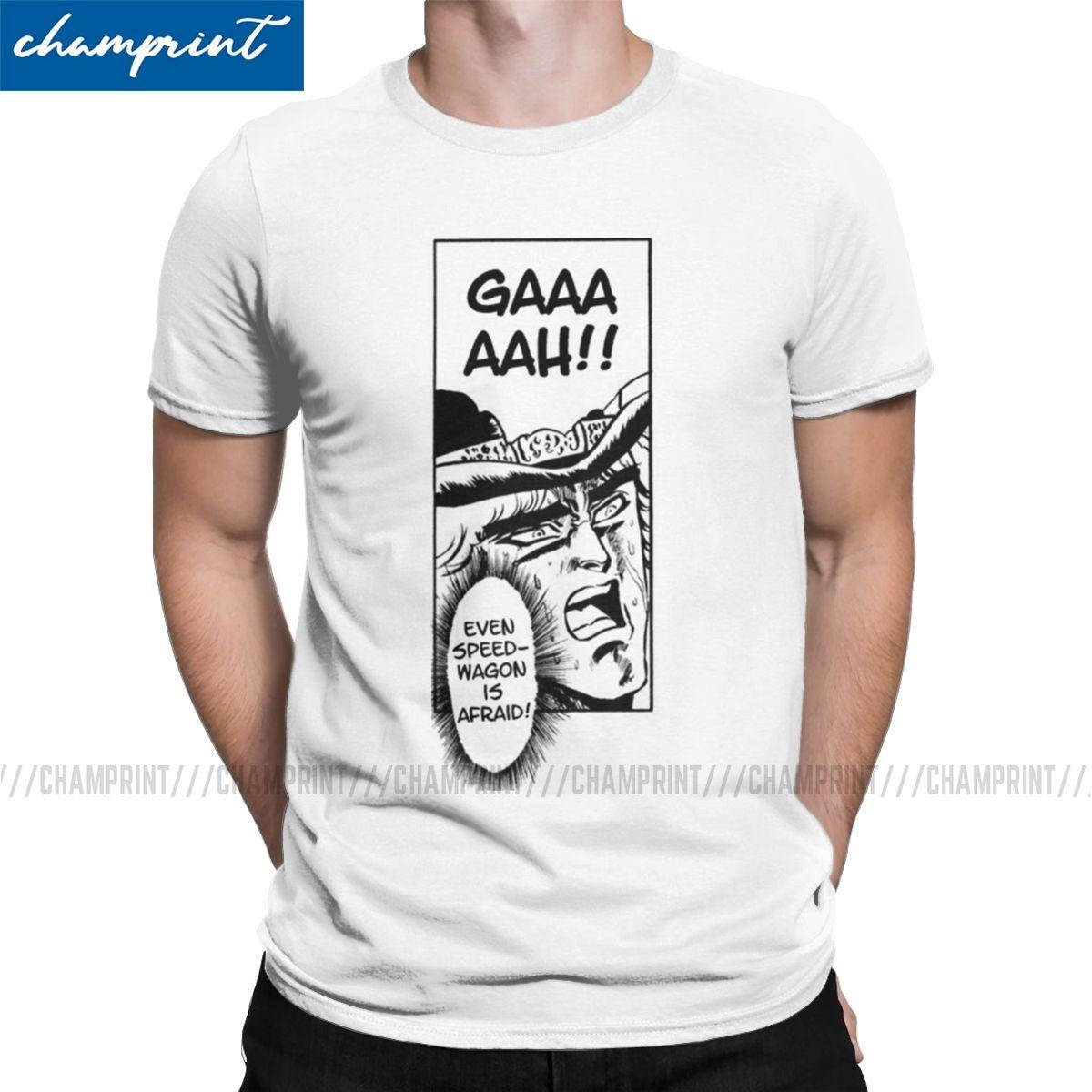 Anche shirt Speedwagon ha paura T per uomini divertenti T-shirt Jojos Bizzarre Avventure Anime Manga Jjba Tee T-shirt manica di vestiti