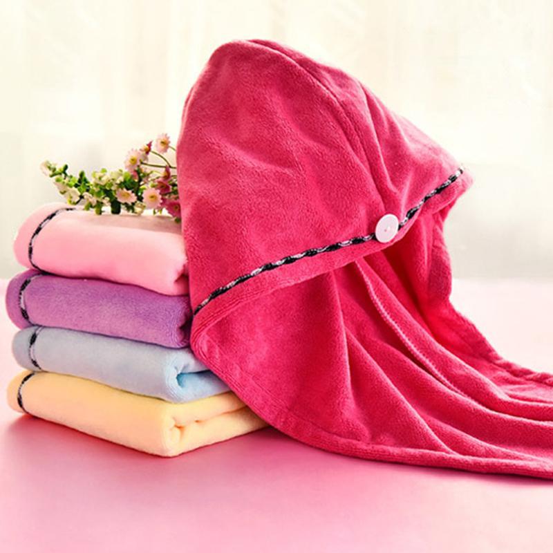 Magic Microfaser Haar Fast Trocknung Trockner Tuch Bad Wrap Hat Schnellkappe Turban Dry Hair Cap WOTDQ