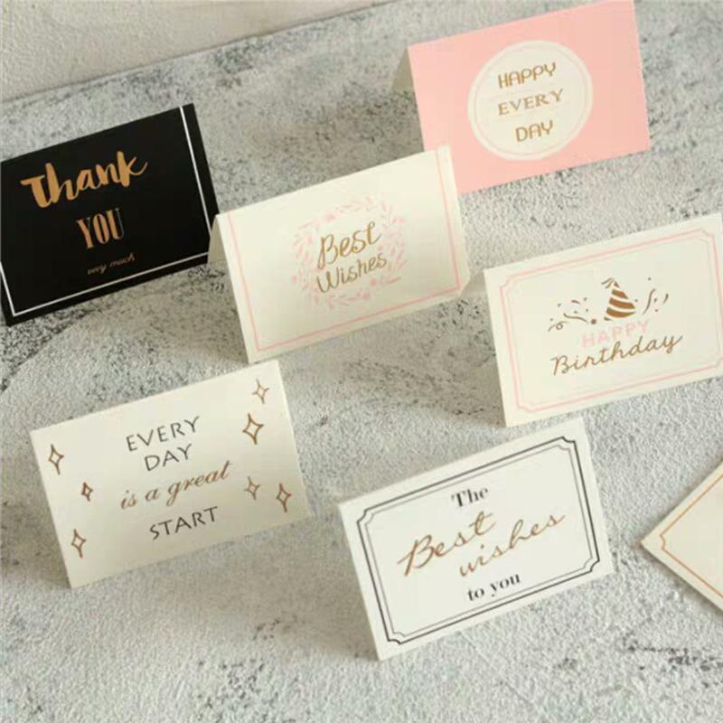1pcs Joyeux anniversaire Cartes de voeux Cadeau Fête de Noël décoration de mariage Lettre d'invitation Cartes papier d'impression Carte de remerciements