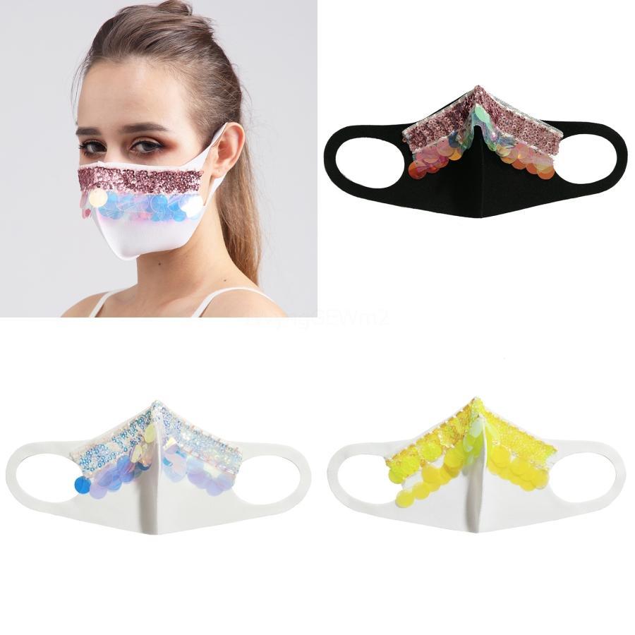Art und Weise Bling Bling Gesichtsmaske Dame Bunte Personality staubdicht atmungsaktiv Pailletten Schutz NewCycling Masken Maske # 206