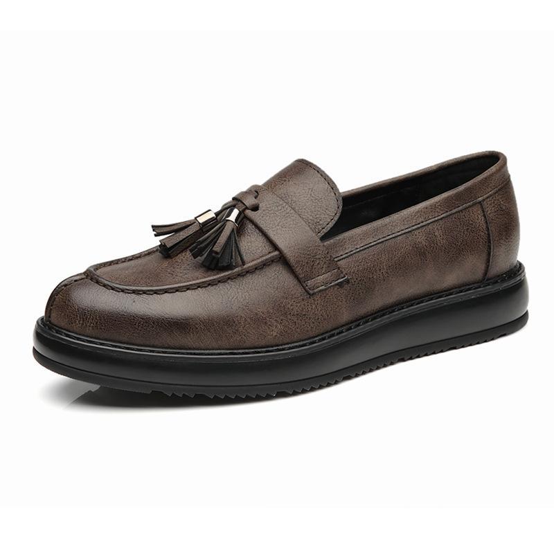 sapatos masculinos borla slip-on sapatos calçados vida empresarial para oxfords homem apartamentos viagem de escritório zy660