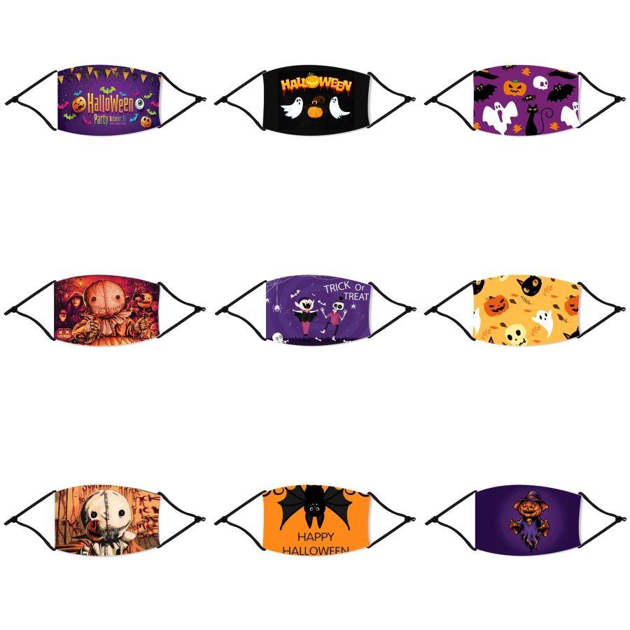 Kinder Anti-Pollution Halloween Straw Masken-Jungen-Mädchen-Karikatur-Mund-Gesichts-Halloween Straw Masken Kinder Anti-Staub-Breath Earloop Washa # 307