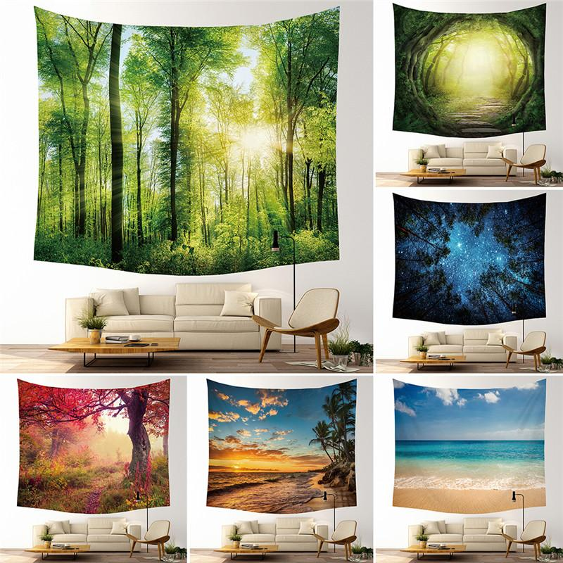 9 Designs tapeçaria Tapeçaria Forest Beach Espaço Toalha Xaile Bohemian Mandala Yoga Mat Toalha de poliéster Tapestrie
