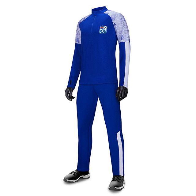 Islanda FC Uomo Bambini all'ingrosso tuta sportiva di calcio di calcio Imposta Giacca manica lunga preparazione invernale caldo Sportswear