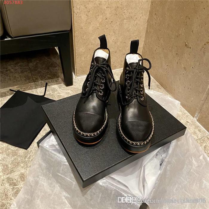 Street Style Martin Schuh-Knöchel kurze Stiefel für Frauen-Plattform Booties Low Ferse Leder Stiefeletten