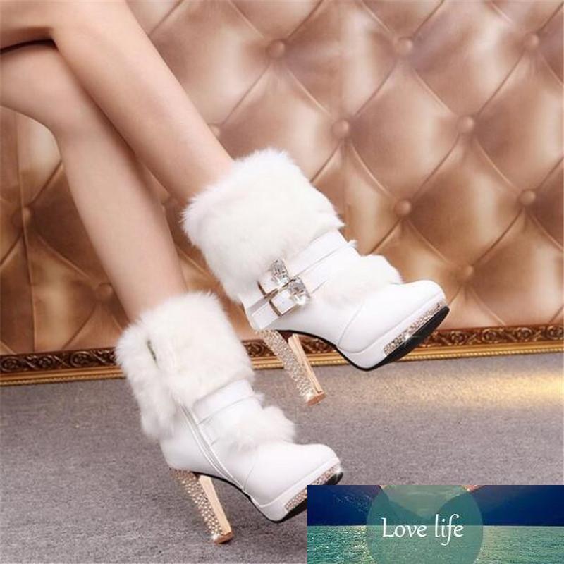 nuevas botas de tacón alto de la hebilla del cinturón cargadores calientes de la moda de deslizamiento zapatos de las mujeres de las mujeres ocasionales resistentes al desgaste de las mujeres