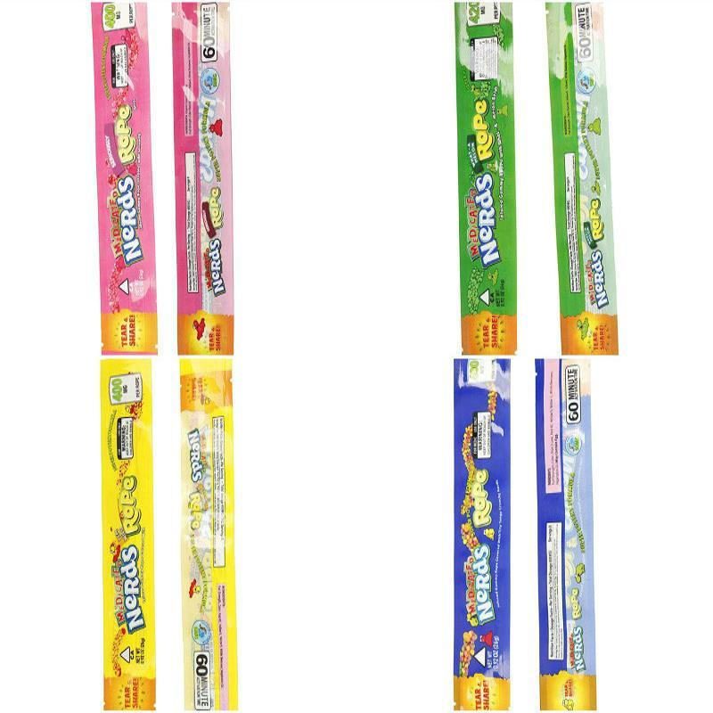 Стили Полиэстер Gummy Фольга упаковки Упаковка продуктов питания Вариант С Candy Proof 9 Обоняние Веревка Nerdsrope Пусто 2020 Medicated Сумки Сумка полудурков nGcSy