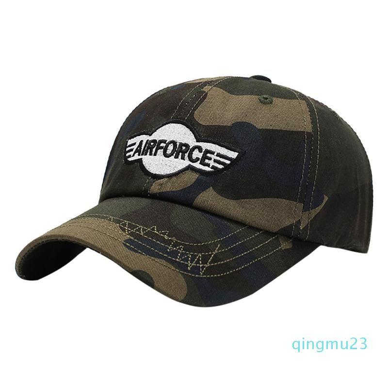 Atacado-Fashion Outdoor Camuflagem Escalada Cap respirável Pára-Cotton Peaked Hat Tactical Estilo ajustável Wear Headwear Sports