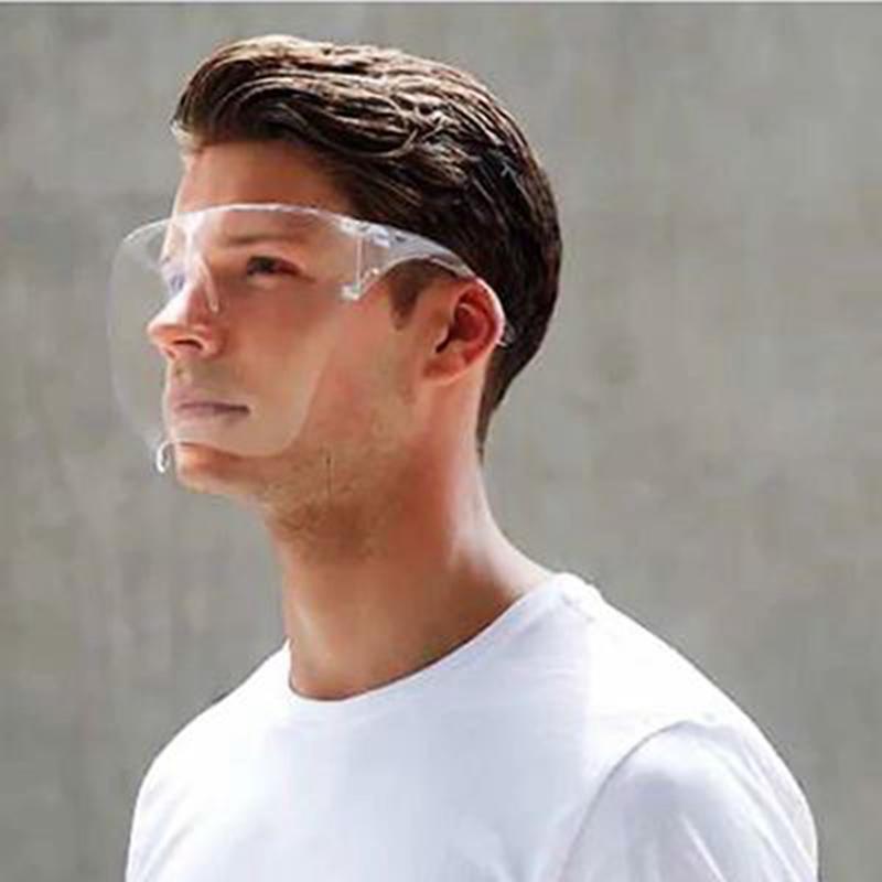New Blocc protetor facial Transparente Anti Fog cara Waterproof máscara máscaras reutilizáveis Rosto cobertura completa Durable respirável Visor partido IIA640