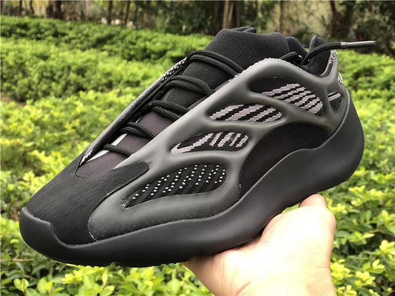 2020 Kanye West 700 V3 Alvah Siyah Azael Koşu Ayakkabı 3M Yansıtıcı Dalga Runner Glows In Dark Erkekler Kadınlar Spor Sneakers ile Kutusu