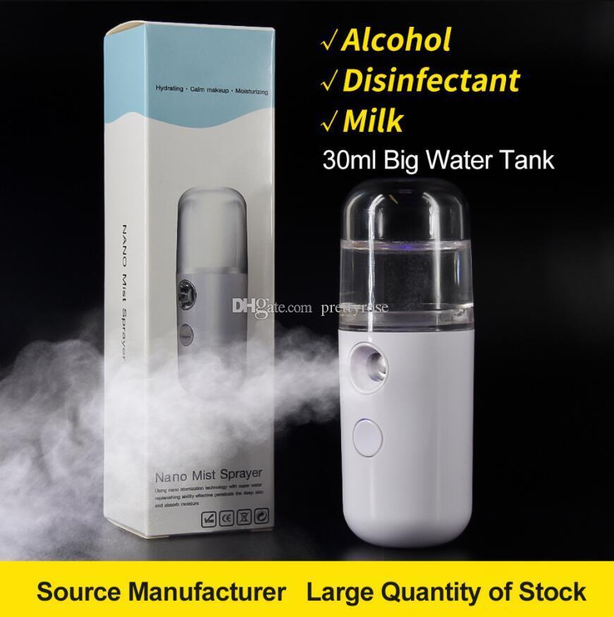 Cuidado Nano niebla pulverizador humidificador Cuerpo facial hidratante de la piel vapor USB mini spray facial de belleza Herramientas de niebla dispositivo de enfriamiento de DHL
