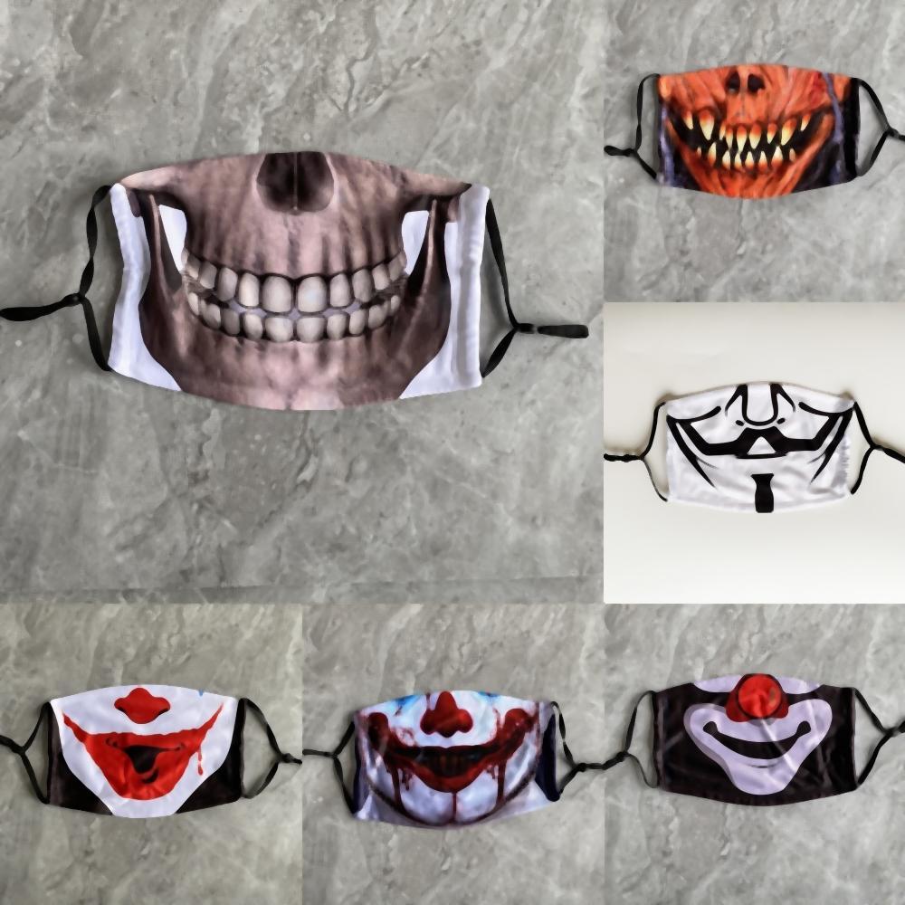 vu9d1 Rotten Halloween Clown Ognissanti in lattice orrore Maschera puntelli Bar ballo Engage Red Hair Mask Copricapo
