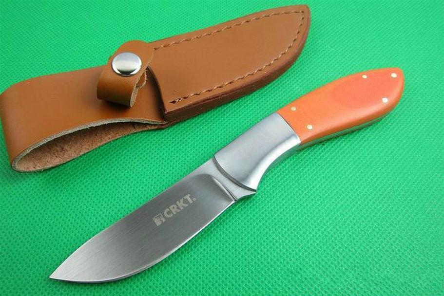 CR KT 2840 (laranja G10) faca reta Ferramentas Camping Survival presente Faca Outdoor Xmas Gift para o homem 01776