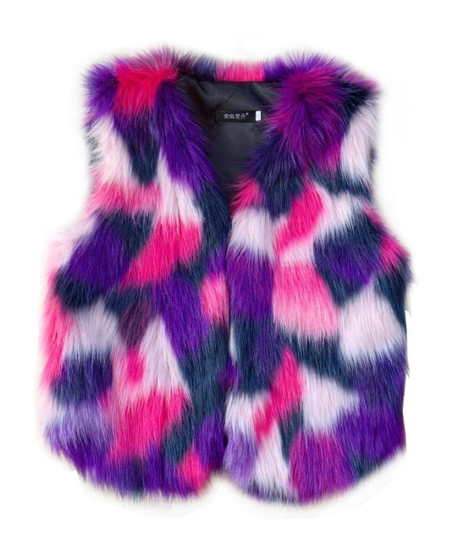 Yeni Moda Kadınlar Kış Giyim Renk Yüksek İmitasyon Kürk Yelek Yelek