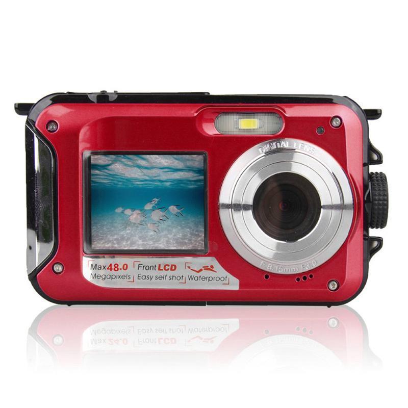 Neue heiße 48MP Unterwasser wasserdichte Digitalkamera Dual Screen Video Camcorder Point und Shoots Digitalkamera