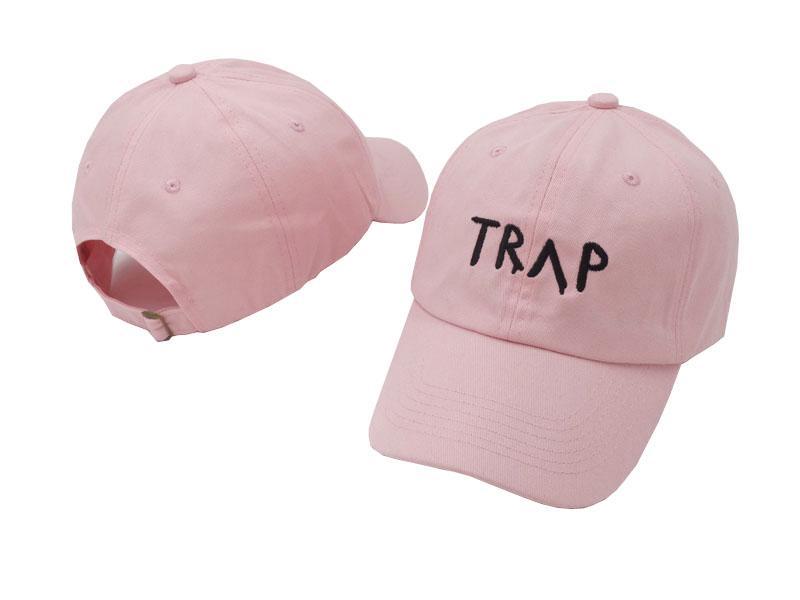 Pure Cotton TRAP chapéu-de-rosa bonito das meninas boné de beisebol Como Armadilha Música 2 Chainz Rap LP Dad Hat Hip Hop capa Atacado personalizado