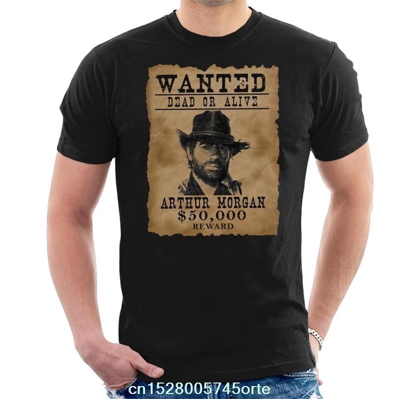 Gedruckt camiseta Dead Redemption Arthur Morgan Steckbrief-T-Shirt aus 100% Baumwolle Frauen-T-Shirt