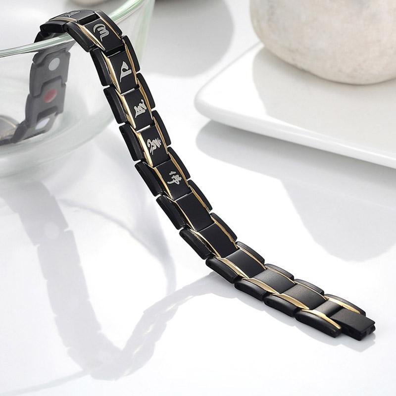 MDGHealthy de acero de titanio Magnetoterapia pulsera hombres joyería energía del imán del brazalete de las pulseras Venta FO