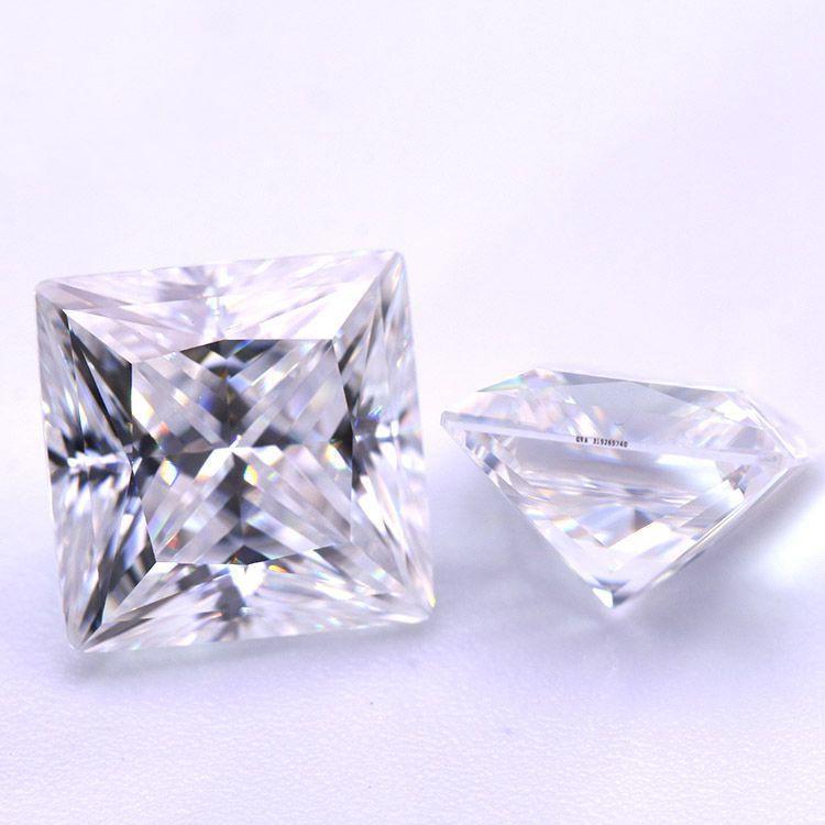 D Color de VVS corte princesa Moissanite K del oro con el anillo collar embutido de la piedra 3CT 2CT 1CT1