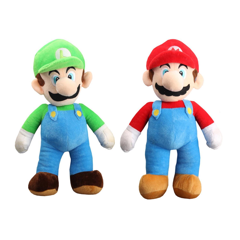 Детские игрушки 25см Марио и Луиджи Bros плюшевые куклы Мягкие игрушки Животные для детских подарков NOMA037