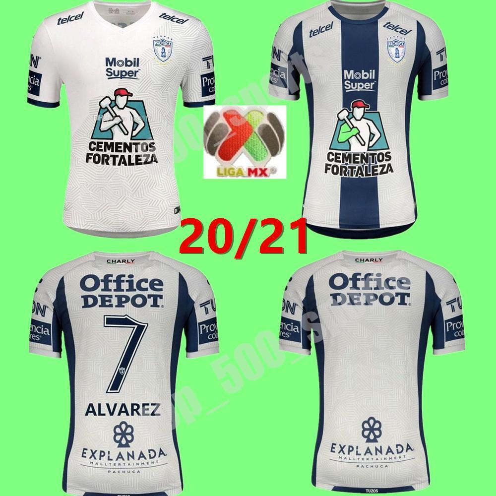 Pachuca 축구 유니폼 20 21 Cardona Liga Charly 2020 2021 Camiseta de Futbol Jara Guzmdn Uiioa Pachuca 축구 셔츠