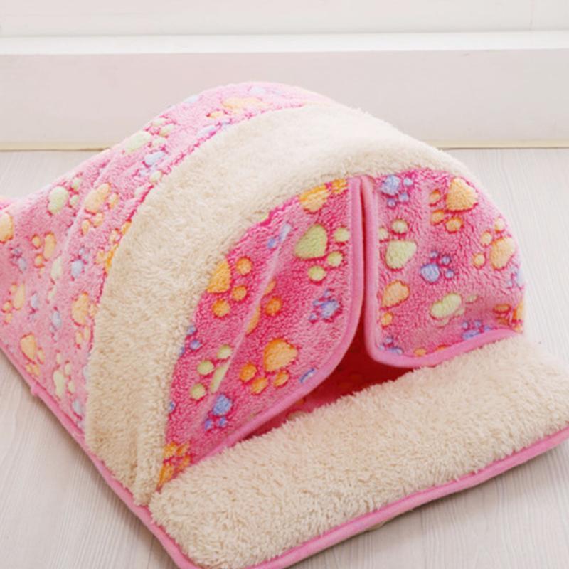 لطيف الحيوانات الأليفة حقيبة النوم الدافئة القط سرير الكلب كلب البيت جميل لينة القط حصيرة وسادة المنتجات تصميم جميل